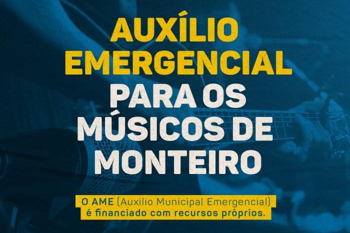 AME MONTEIRO: Prefeitura conclui pagamento da 1ª Parcela do Auxílio Municipal Emergencial destinado aos músicos