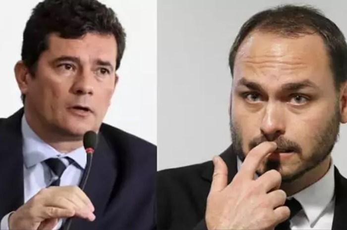 'Nunca existiu sujeito tão traidor de um país', diz Carlos sobre Moro