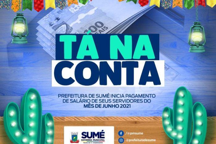 Prefeitura de Sumé começa a pagar o mês de junho aos servidores