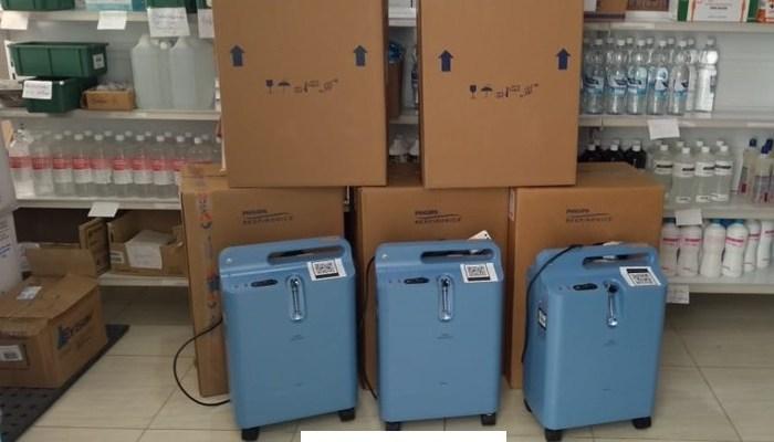 Monteiro recebe 5 concentradores de oxigênio para tratamento a pacientes acometidos pela Covid-19