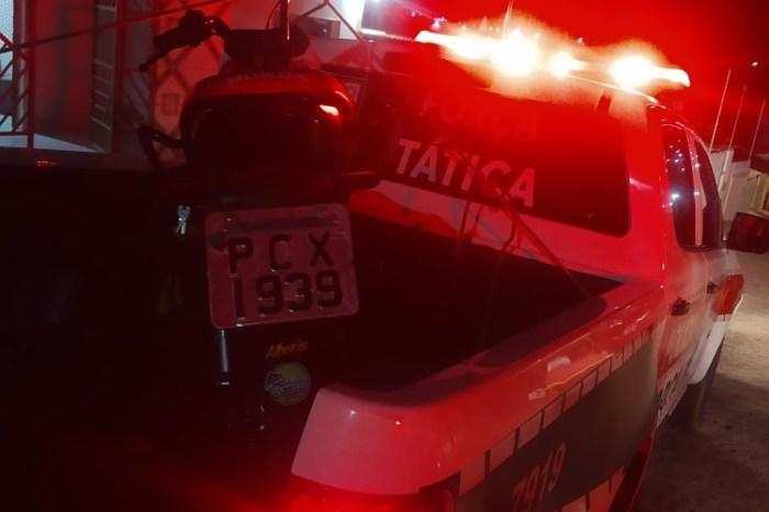 Polícia Militar recupera motocicleta com restrição de roubo em Boqueirão