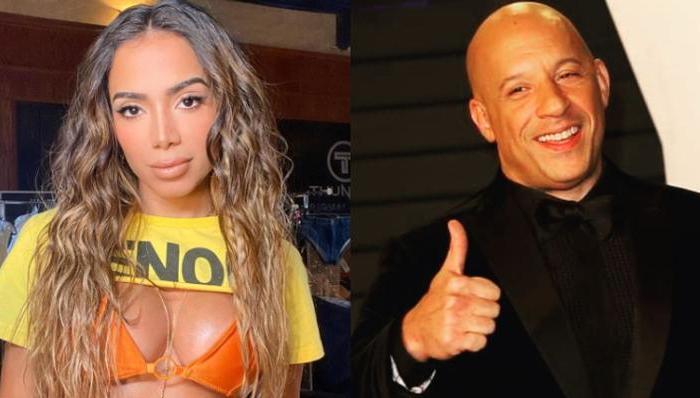 Em estúdio de gravação, Anitta aparece ao lado de Vin Diesel e leva web à loucura
