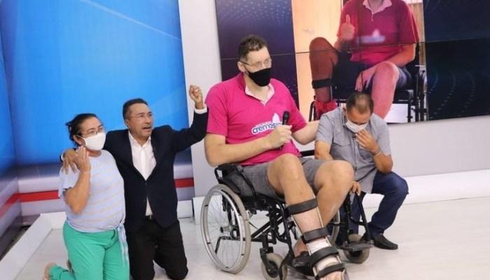 Após fazer apelo na TV Arapuan, caririzeiro Ninão arrecada R$ 13 mil para ajudar tratamento de saúde
