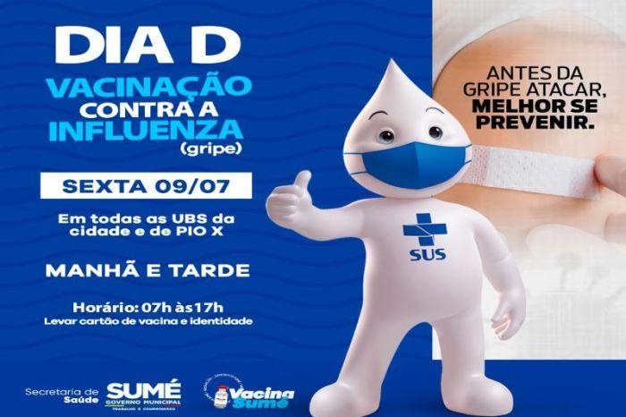 """Sumé realiza o Dia """"D"""" da vacinação Influenza/Gripe"""