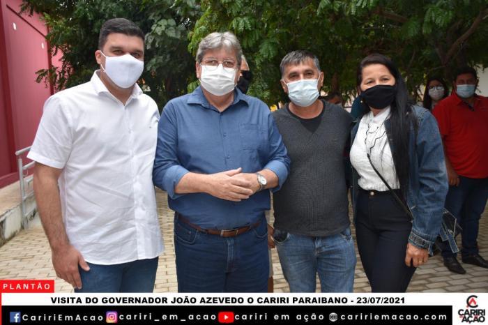 Prefeito de Ouro Velho participa de encontro com o governador João Azevêdo no Cariri