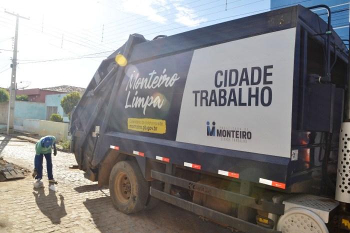 Monteiro: Mudanças na coleta de lixo e varrição são aprovadas pela população