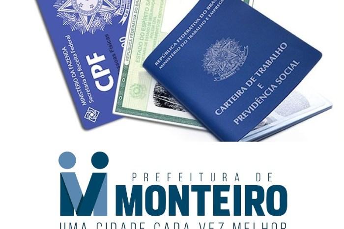 Secretaria de Desenvolvimento Social confirma retomada de emissão de RG em Monteiro