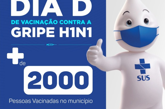 INFLUENZA: Dia D da vacinação contra a gripe vacina mais de 2 mil pessoas em Monteiro