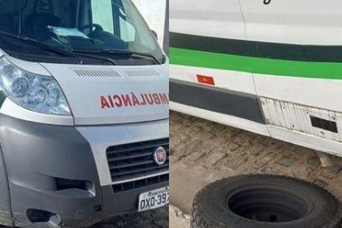 Após falso pedido de socorro, bandido rouba ambulância de prefeitura da Paraíba