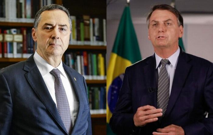 """Após ser chamado de """"imbecil"""" e """"idiota"""", Barroso rebate Bolsonaro e declara: """"Eleição vai haver, eu garanto"""""""