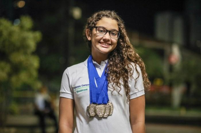Nadadora paraibana é promessa em campeonato brasileiro