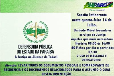 Defensoria Pública realiza ação itinerante em Amparo na próxima quarta-feira, 14