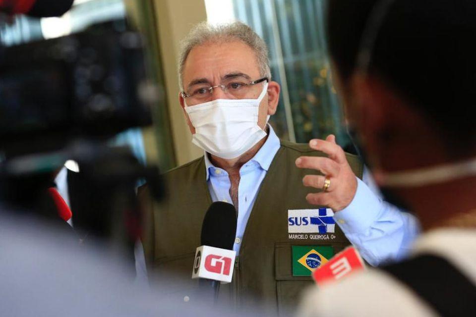 Ministro da Saúde, Marcelo Queiroga anuncia desabilitação de leitos de UTI para a Covid-19