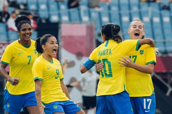 Seleção brasileira feminina goleia China por 5 a 0 na estreia nas Olimpíadas
