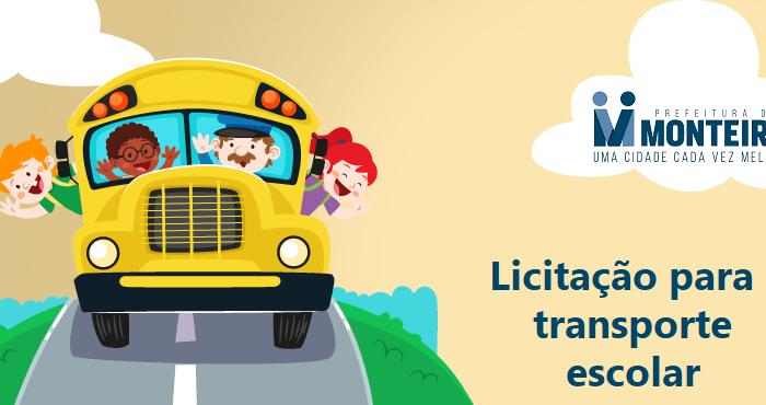 Prefeitura de Monteiro realiza licitação para contratação de transporte escolar
