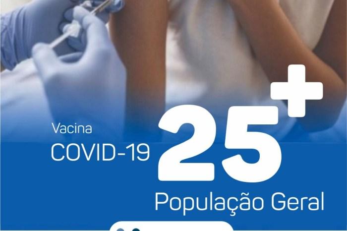 Em Monteiro, pessoas com idade de 25 ou mais serão vacinados a partir desta terça-feira