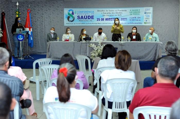 Secretaria de Saúde de Monteiro realiza 8ª Conferência Municipal de Saúde