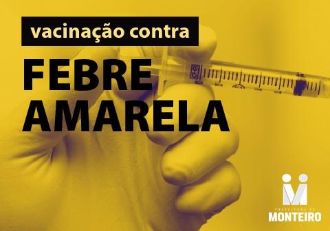 Secretaria de Saúde de Monteiro dá início a vacinação da febre amarela no município