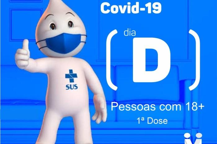 Monteiro realiza dia D de vacinação contra a covid-19 para pessoas com 18 anos ou mais
