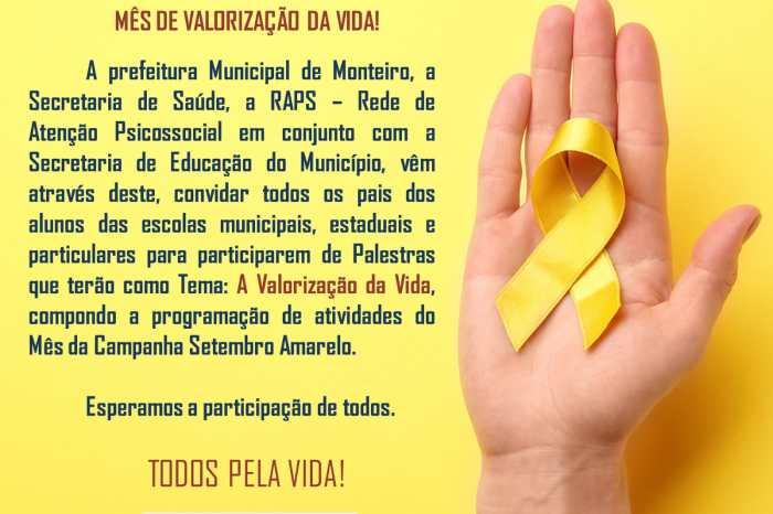 Em Monteiro, RAPS promove atividades para alertar sobre os cuidados com a saúde mental