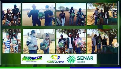 Senar entrega cestas básicas a produtores rurais de cidade do Cariri