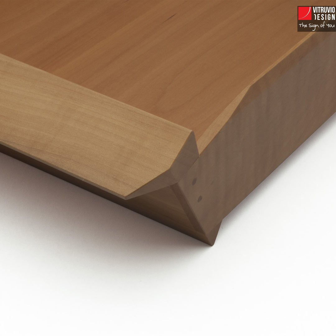 Vassoio di design in legno  Made in Italy  Vitruvio Design