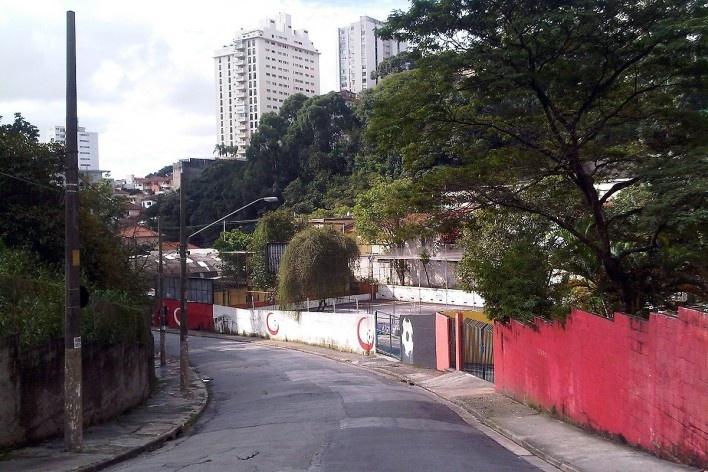 Grotão da Bela Vista visto da parte alta da rua Rocha<br />Foto Abilio Guerra