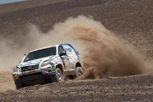 Foj creant polseguera amb el Toyota // Foj Motorsport Coopertires