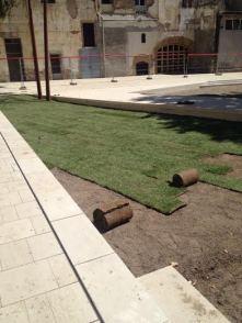 Pati del Palau pocs dies abans de la seva inauguració // Ajuntament