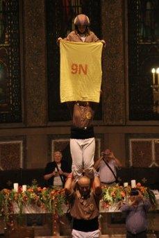 Els Matossers de Molins de Rei han aprofitat per reivindicar la consulta del 9 de novembre // Jordi Julià