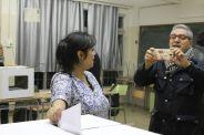 Mariadelis Olivares, una dona boliviana que vota per primera vegada a Catalunya// Elisenda Colell