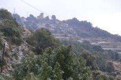L'ermita de Sant Pere de Romaní, nevada vista des del barri de l'Àngel // Elisenda Colell