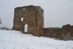 El Castell Ciuró ha arribat a acumular gruixos de tres centímetres aquest matí // Elisenda Colell
