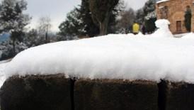 El gruix de la neu a Collserola era de 4 centímetres // Jose Polo
