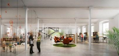 Una de les plantes de la nova biblioteca // Ajuntament de Molins de Rei