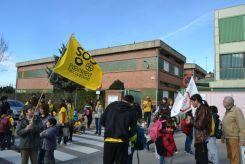 L'escola Castell Ciuró, de manifestació per l'escola pública // Elisenda Colell