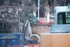 El pont vist des de davant, amb només una de les dues escales // Jordi Julià