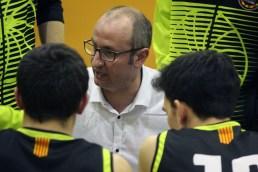 Jesús Fernández donant instruccions en l'últim partit contra el Claror // Jose Polo