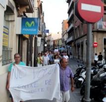 La manifestació pel centre // Jordi Julià