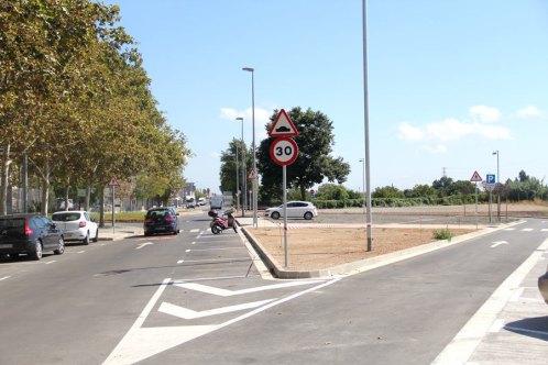 El carrer Felip Canalies s'ha reurbanitzat // Jordi Julià