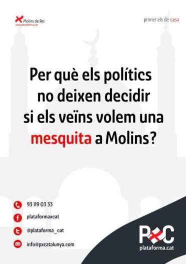 Un dels cartells que ha creat Plataforma per Catalunya // PxC
