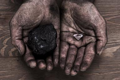 Diamond and coal mining