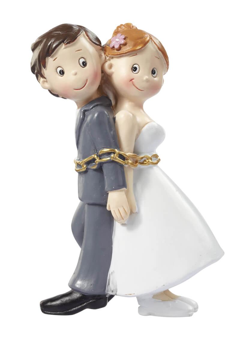 Hochzeitspaar in Ketten grauwei 8 cm