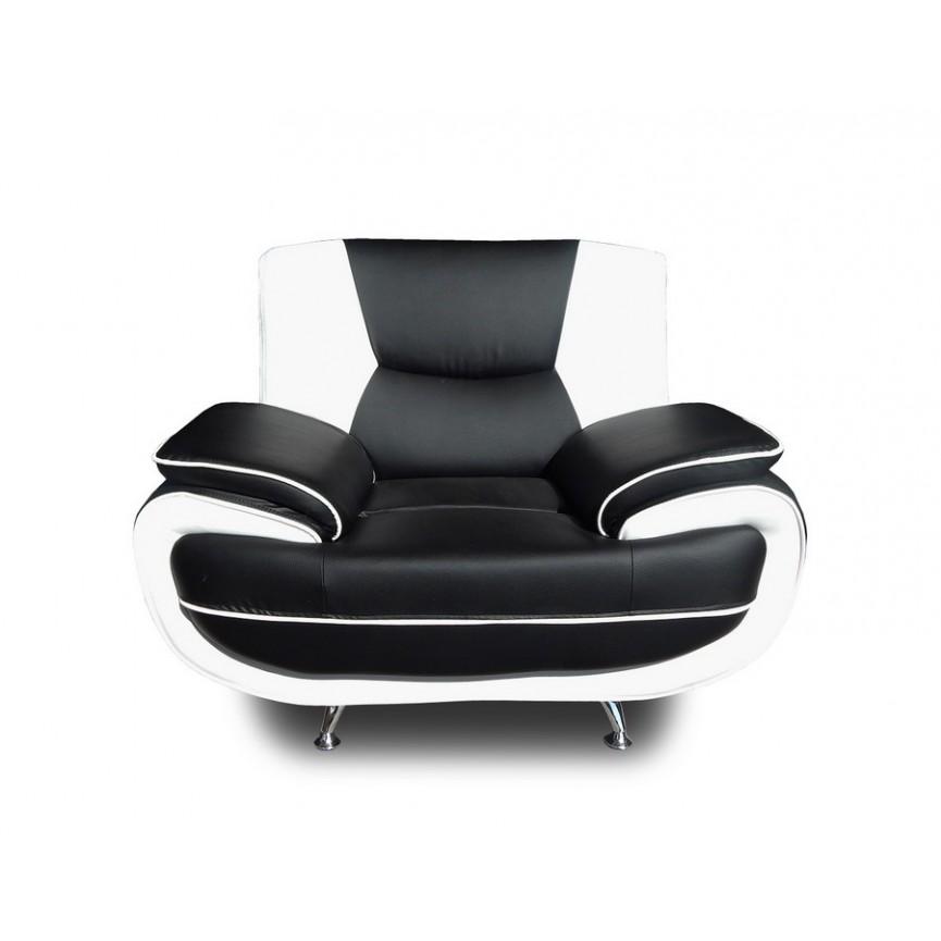 fauteuil rembourre tommy en simili cuir