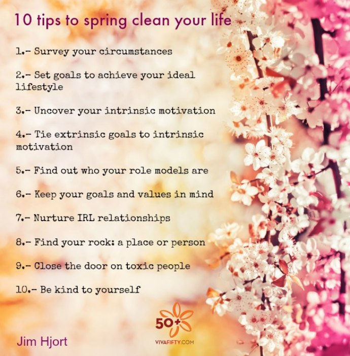 10 Simple tips to spring clean your life