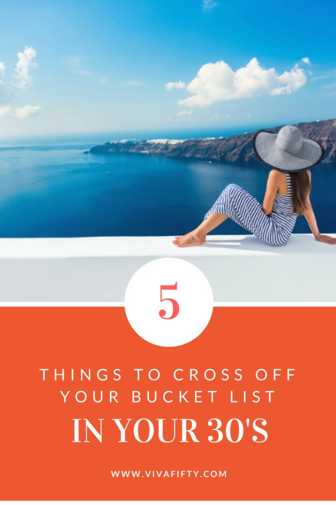 Not to worry, you've got plenty of time left in your thirties to start ticking off your bucket list. Here are some things you should try now, instead of waiting until you're older. #thirties #over30 #travel #millennialls