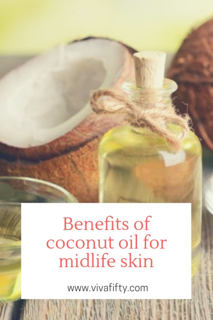 Coconut oil is multipurpose, natural, and has no added chemicals. Coconut oil has been used for centuries in tropical countries. It's as simple as going back to what people used to do before chemicals made their way into sophisticated skin and hair-care products. #skincare #coconutoil #midlife #over40 #over50