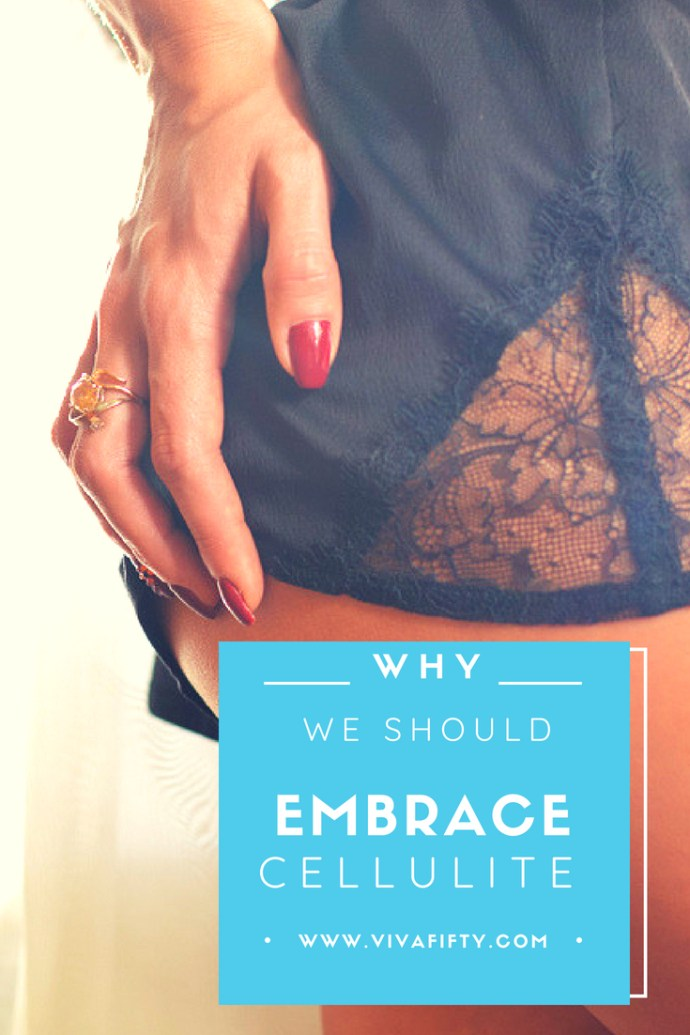 Most women, that is over 90% have cellulite. Here's why we really should embrace it!