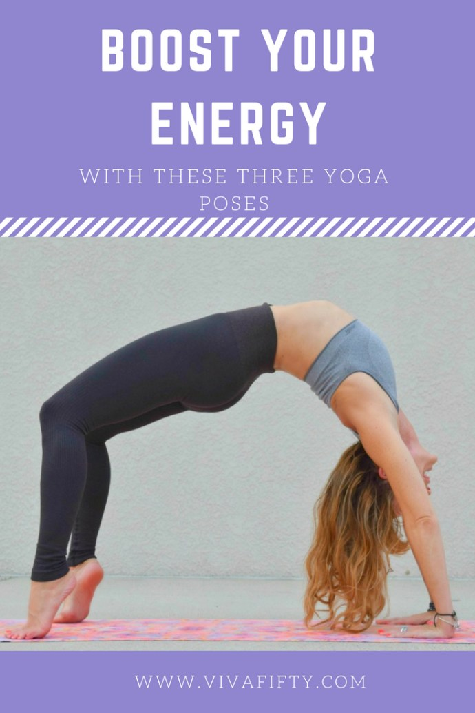 Asana yoga has many benefits, especially when you practice the 8 limbs of yoga, of which asana is just one. If you're in need of an energy boost, these three yoga poses are more effective than a cup of coffee! #yoga #backbends #poweryoga #midlife