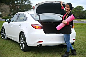 Driving the Mazda 6 to yoga teacher training